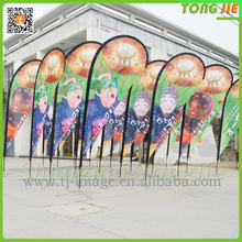 Best Sell Double Sides Print Teardrop Flag Beach Flying Flag Good Qualities Free Samples