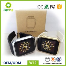 W12 factory supply bluetooth smart watch gd19 wrist watch phone android