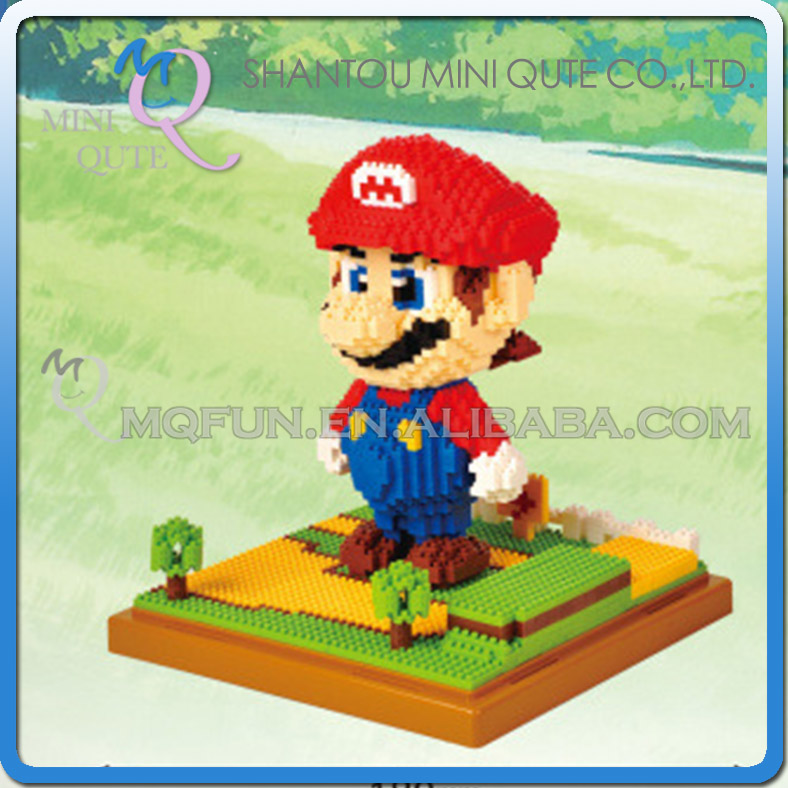Mini Qute LNO kawaii LNO kawaii huge size super mario plastic puzzle cartoon mouse model children gift educational toy