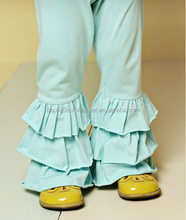 manufacturers in china for childrens clothing lovely little girls triple ruffles solid color pants for winter