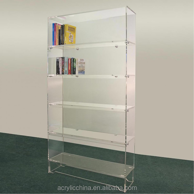 Free standing acrylic shelves,transparent lucite acrylic display shelves