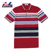 Wholesale Men's Cotton Custom Short Sleeved Printed Polo striped t shirt