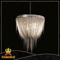 stainless steel material and silver color decorative chain lamp chandeliers
