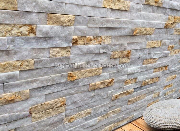 Popular Chinese Stack Stone, Ledge Stone, White Quartz Culture Stone for Wall Cladding