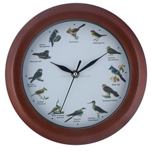 Bird sound wall clock with custom dial printing