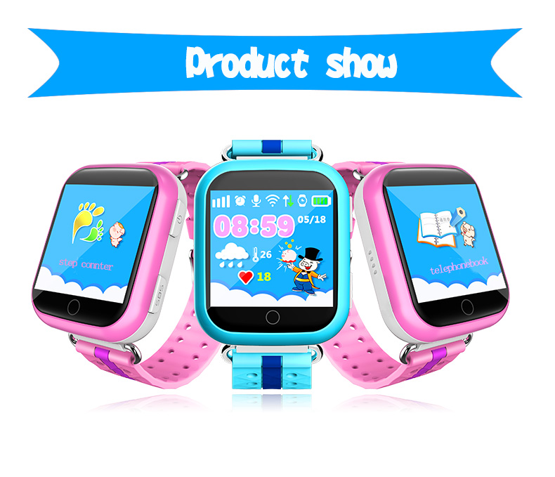 GPS Kids Tracker Watch Q750 With Double Talk Function Kids GPS Watch Phone Kids Smart Watch