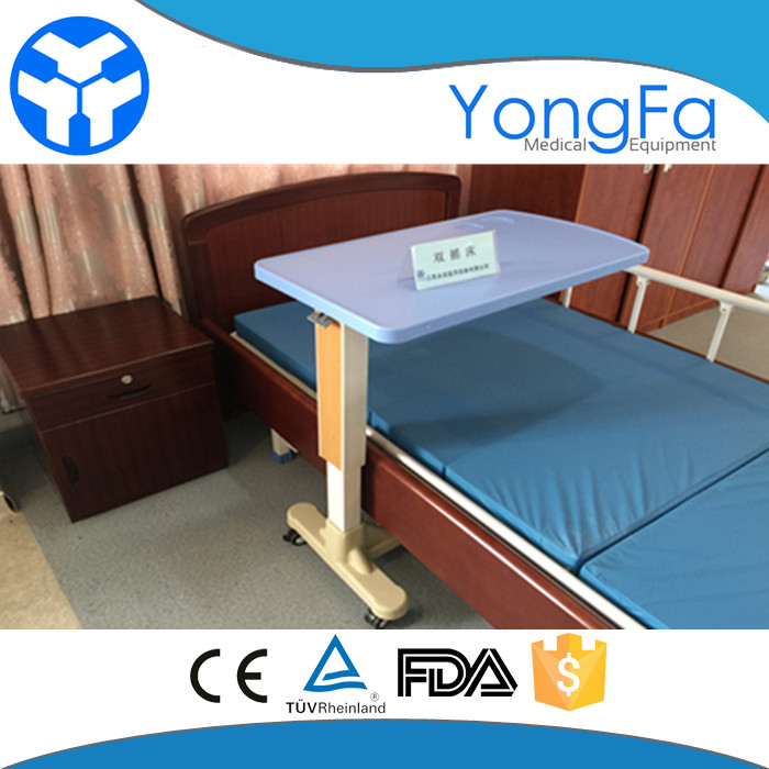 YFT001 hospital over bed table with height adjustable Function