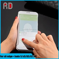 New Mirror clear view touch screen sleep wake smart phone case cover for samsung galaxy s6 edge plus/ note 5/A5/A7/A8