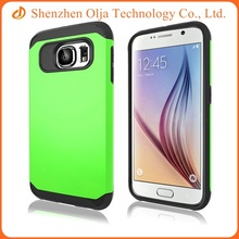 Wholesale cheap plastic hard back cover tpu clear mobile phone case for Samsung galaxy s6 edge
