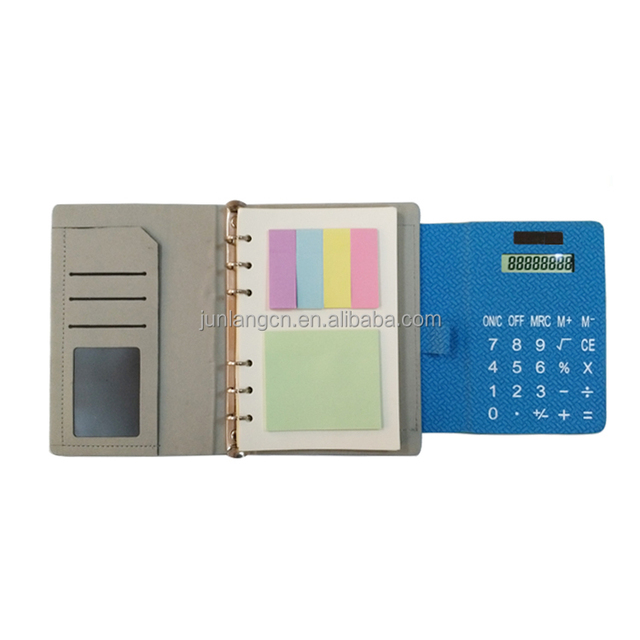 New Spiral notebook with calculator on cover