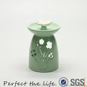 Nice Quality Ceramic Glazed Fragrance Oil Burner with a ladybug