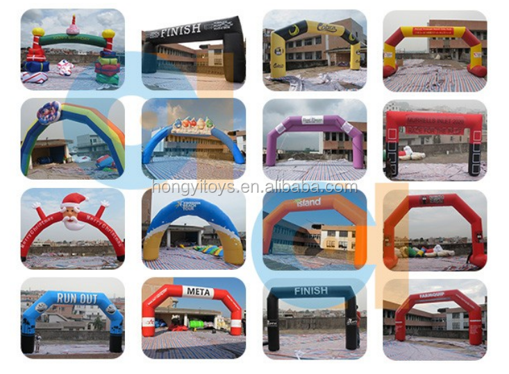Giant Blue Archway , Inflatable Square Arch Gate For Event
