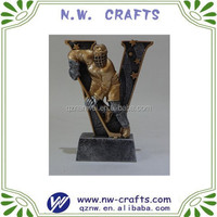 Polyresin Victory star hockey figure 3D trophy