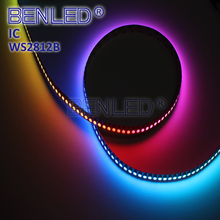 Digital WS 2812B Pixel DC 5V Addressable Ic Built In Chip RGB 30 60 144 Leds Flexible LED Chasing WS2812B IC Strip Light