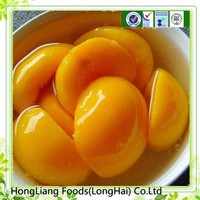 High quality raw materials glass cans peach import fruit