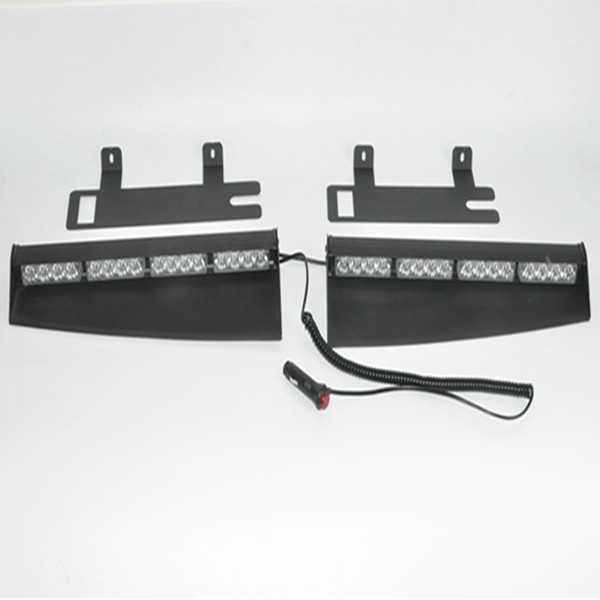 Window flashing emergency warning windshield strobe lights