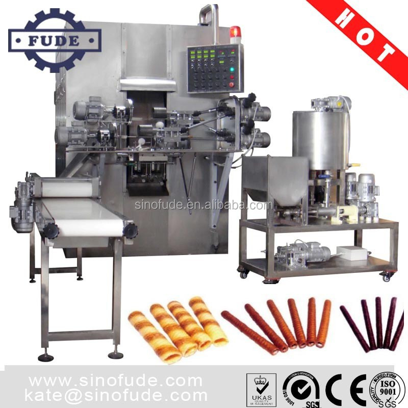 Full Automatic Egg Roll Processing Equipment / Wafer Stick Making Machine