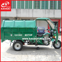 Five Holes Powrful Oil Brake Rear Axle Automatic Garbage Loading Cleaner Motor Tricycle
