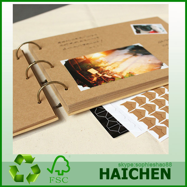 New style wooden plastic photo album cover