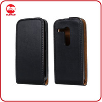 High Quality Luxury Black 100% Real Genuine Leather Flip Case for Motorola Moto G