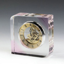 custom wholesale office decorative crystal mini clock MH-BC006