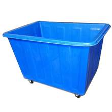 Factory supply Recycled Plastic Laundry Basket , plastic laundry cart for hotel , hospital