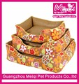 Flower pattern dog beds with removable cushion summer washable large dog bed