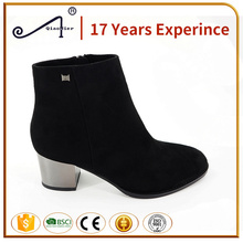 police women shoes suede heel boots knee high boots for women