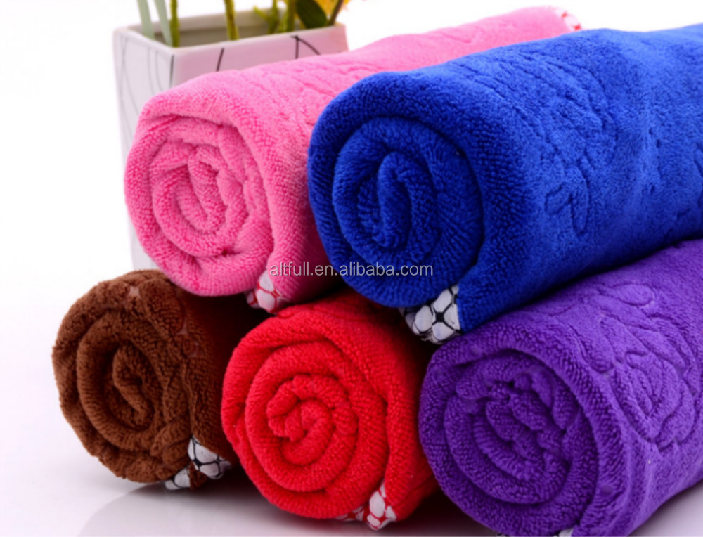 2015 China Factory Direct Sales Wholesale Cheap Plush Microfiber Travel Quick Dry Luxury Bath Towels