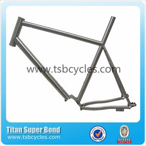 Titanium Pinion P1.18 Gearbox road bike frame with sliding dropout and split on the rear stay for titanium bicycle TSB-HIR1406
