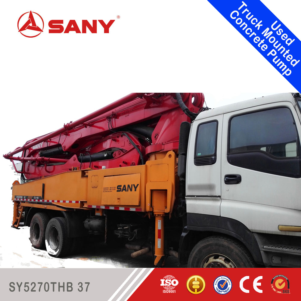 SANY SYSY5270THB Energy-Saving Technology for Truck Mounted Concrete Pump 42m Used Concrete Pump