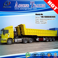 AOTONG Cheap Soil Containing Waste Matter Transporting Vehicles, Dump Truck Trailers and Trailers