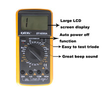 New arrival best auto ranging bench digital multimeter EXYOU DT-9205A multimeters with automatic shutdown function