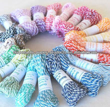 15 Yards Mix and Match Colorful Bakers Twine - - Cotton Twine Super soft twine in 16 yummy colors