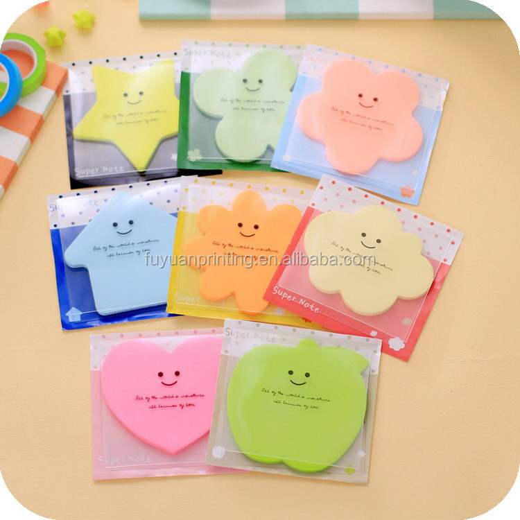 Popular most popular promotional die cut sticky note pad