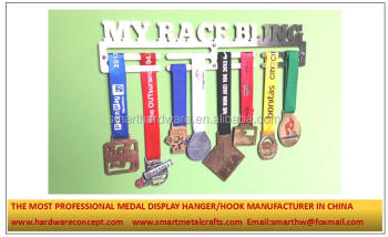 Stainless steel race medal hanger