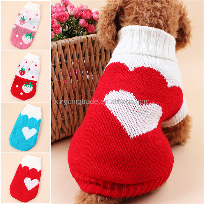 Winter Warm Dog Clothes Puppy Pet Cat Jacket Coat Fashion Soft Sweater Clothing