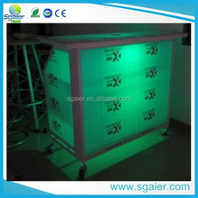 Hot sale Led portable bar table with wheels