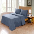 Dark Gray Cosy House Collection Luxury Silk Bamboo Sheets 4 Piece Bedding Set