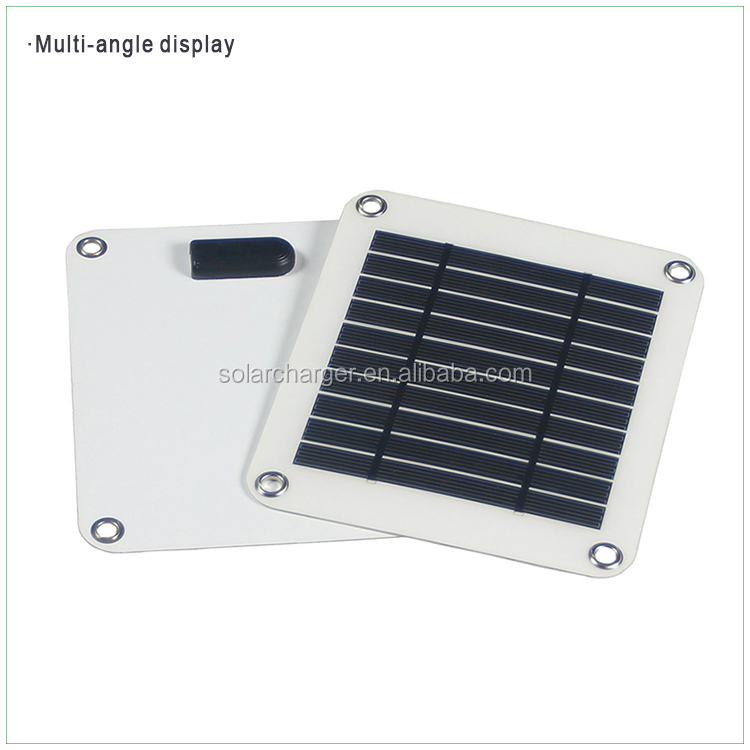5W solar panel flexible waterproof for outdoors