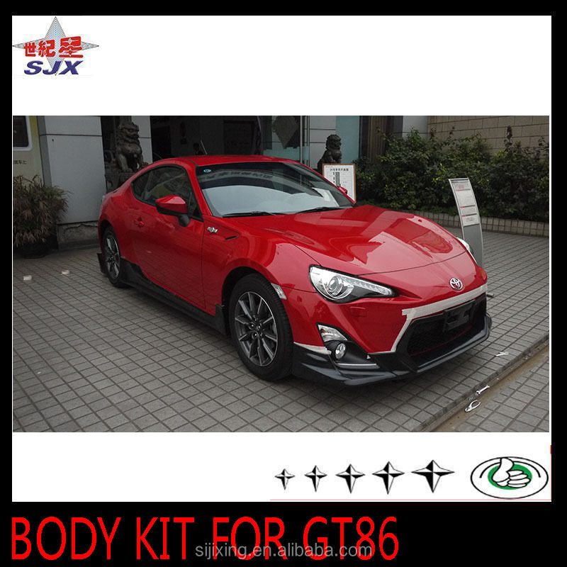 CAR BODY KIT FOR GT86 PP PLASTIC MATERIAL AUTO EXTERIOR DECORATION PARTS