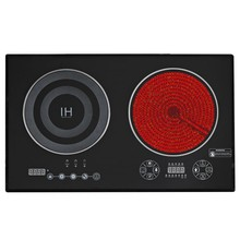 Factory supply dual burner induction/infrared cooker wholesale