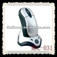 High class wireless optical mouse PC mouse with a holder