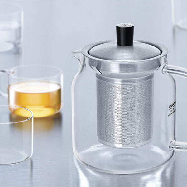 Samadoyo stainless steel infuser teapot combined with 4 exquisite cups