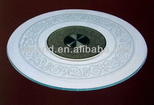 3-19mm round tempered glass dining table