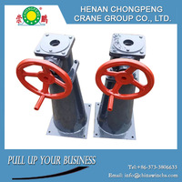 Removeable hand wheel or crank mini electric rope hoist