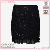 new desgin tight fit sequined sexy women in short mini skirts