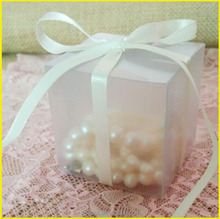 Square Plastic PVC box clear PET box frosted PP box for gift