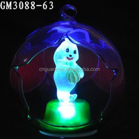 wholesale Halloween hanging glass ball with led light