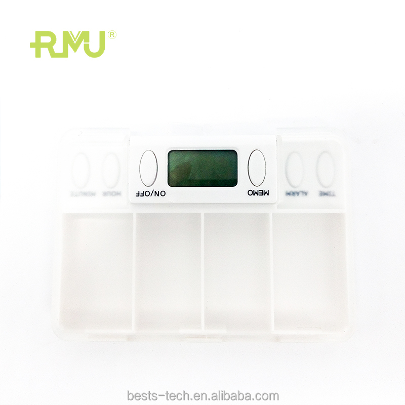 High quality ABS material Pill box Alarm with <strong>timer</strong> with food grade plastic